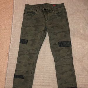 Blank NYC Camo and Leather Jeans